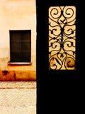 din dörrfönstervärld Arkivbilder