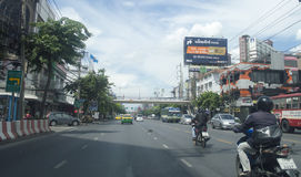 Din Daeng Road street view in  thailand. Stock Image