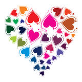 Din förälskelse är färgrik vektor illustrationer