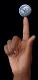 din fingerspetsvärld Fotografering för Bildbyråer