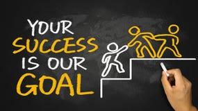 Din framgång är vårt mål Royaltyfria Bilder