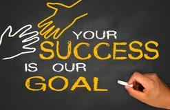 Din framgång är vårt mål Arkivbilder