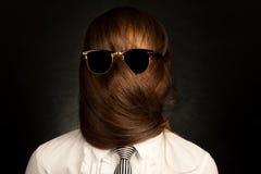 din framsida är ditt hår Arkivfoto
