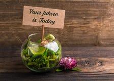 Din framtid är idagen royaltyfri bild
