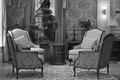 Din Grandmother& x27; klassiskt mottagningsrumrum för s royaltyfria bilder