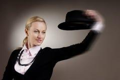 din hattflyttning royaltyfri foto