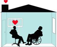 din home rehabilitering stock illustrationer