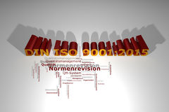 DIN ISO 9001:2015 - norm revision Royalty Free Stock Image