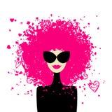 din kvinna för designmodestående vektor illustrationer
