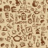 din seamless tid för bakgrundskaffedesign Royaltyfri Bild