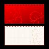 din sida för räkningsdesignanteckningsbok Royaltyfri Fotografi