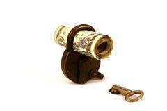 din säker serie för pengar Arkivfoto