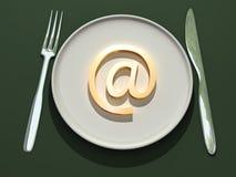 din snabb post för leverans royaltyfri illustrationer