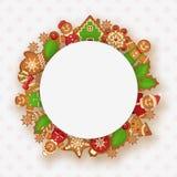 din text för julramställe Fotografering för Bildbyråer
