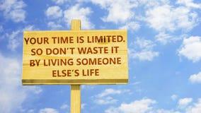 Din tid begränsas
