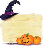 din vektor för text för halloween ställesignboard Royaltyfri Fotografi