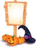 din vektor för text för halloween ställesignboard Arkivbilder