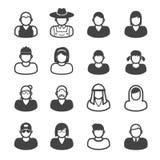 din website för rengöringsduk för projekt för presentation för folk för applikationsymbolsinternet Arkivfoto
