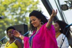 Dina El Wedidi Performing Stock Photo