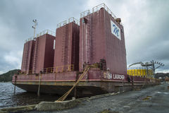 Dina Launcher (submersible barge) Stock Image