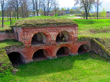 Dinaburg fortress. The ruins of the Dinaburg fortress of the 19th century Stock Image