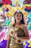2018 Dinagyang Festival. ILOILO , PHILIPPINES - JAN 28 : Participant in the Dinagyang Festival in Iloilo Philippines on January 28 2018. The Dinagyang is Royalty Free Stock Photos