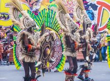 2018 Dinagyang Festival. ILOILO , PHILIPPINES - JAN 28 : Participants in the Dinagyang Festival in Iloilo Philippines on January 28 2018. The Dinagyang is Royalty Free Stock Images