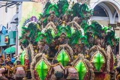 2018 Dinagyang Festival. ILOILO , PHILIPPINES - JAN 28 : Participants in the Dinagyang Festival in Iloilo Philippines on January 28 2018. The Dinagyang is Royalty Free Stock Photos