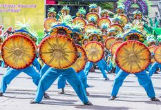 2018 Dinagyang Festival. ILOILO , PHILIPPINES - JAN 28 : Participants in the Dinagyang Festival in Iloilo Philippines on January 28 2018. The Dinagyang is Stock Photos