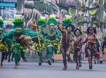 2018 Dinagyang Festival. ILOILO , PHILIPPINES - JAN 28 : Participants in the Dinagyang Festival in Iloilo Philippines on January 28 2018. The Dinagyang is Royalty Free Stock Image