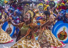 2018 Dinagyang Festival. ILOILO , PHILIPPINES - JAN 28 : Participants in the Dinagyang Festival in Iloilo Philippines on January 28 2018. The Dinagyang is Stock Photography