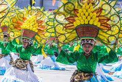 2018 Dinagyang Festival. ILOILO , PHILIPPINES - JAN 28 : Participants in the Dinagyang Festival in Iloilo Philippines on January 28 2018. The Dinagyang is Stock Image