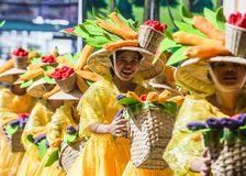 2018 Dinagyang Festival. ILOILO , PHILIPPINES - JAN 28 : Participants in the Dinagyang Festival in Iloilo Philippines on January 28 2018. The Dinagyang is Stock Images