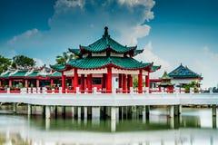 A Dinamarca BO dá sinal de gongo o templo foto de stock