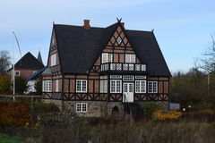 2015 dinamarca Christiansfeld Casa velha bonita Imagem de Stock
