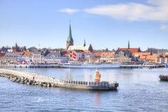 dinamarca Ciudad Helsingor o Elsinore en una costa Fotografía de archivo