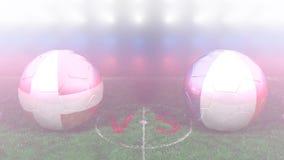 Dinamarca contra Francia, mundial 2018 de la FIFA Vídeo original 3D