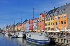 Dinamarca, Copenhague, las bellezas de una ciudad Imágenes de archivo libres de regalías