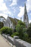 Dinamarca, Copenhague-St. La iglesia inglesa de Alban Fotos de archivo libres de regalías