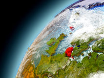 Dinamarca de la órbita de Earth modelo Fotos de archivo