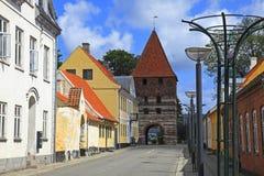 Dinamarca, isla de lunes, ciudad de Stege Foto de archivo