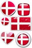 Dinamarca - jogo das etiquetas e das teclas ilustração do vetor