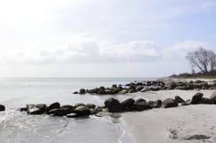 Dinamarca na praia Fotografia de Stock