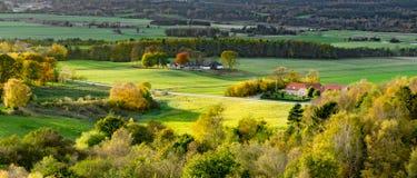 Dinamarca rural em um dia ensolarado do outono Imagens de Stock Royalty Free