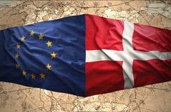 Dinamarca y unión europea stock de ilustración