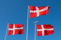` Dinamarquês de Dannebrog do ` da bandeira Imagem de Stock Royalty Free
