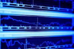 Dinamica di indice di borsa. Fotografia Stock