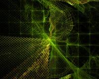 Dinamica di sogno di frattale di Digital di caos della fantascienza di dynami della sovrapposizione di progettazione grafica futu illustrazione di stock