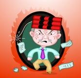 Dinamite na cabeça do chefe do assassino ilustração stock