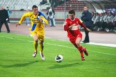 Dinamo Bucarest - Slatina Fotografie Stock Libere da Diritti